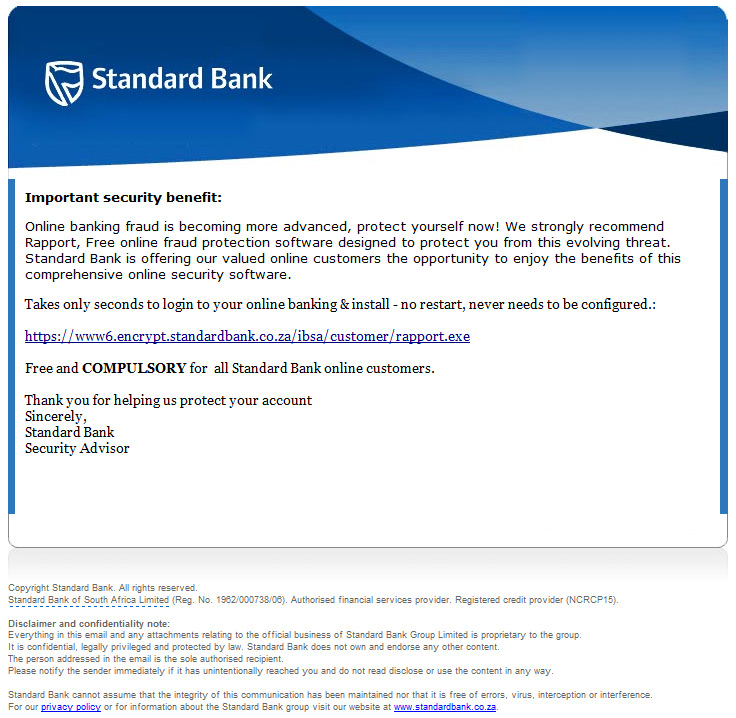 Standard bank forex email address