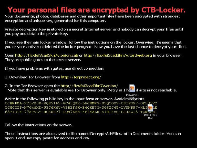 CTB Locker Notice